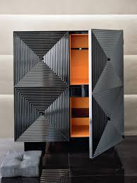 Lacquer Bar Cabinet Well Designed Armani Casa Armani Black Bar And Bar Cabinets