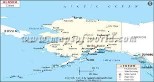 alaska major cities map cities in alaska alaska cities map