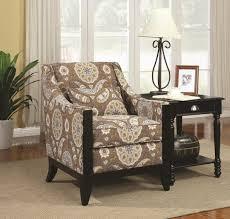 chair coaster 902091 brown fabric accent chair steal a sofa