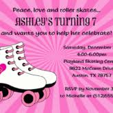 awesome children ice skating invitation template with two color