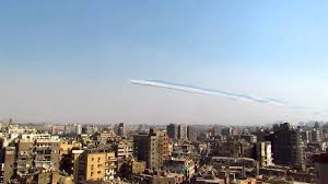 Cairo Flag Planes Flying Above Cairo 6th Of October Celebration Egyptian