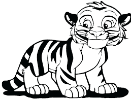 Tiger Shark Coloring Pages Printable Tigers Kids Animal Baby Free Coloring Pages Tiger