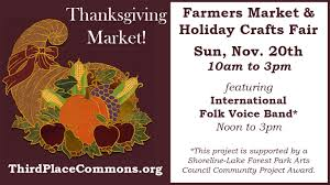 thanksgiving farmers market crafts fair this sunday 11 20