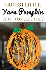 cutest little yarn pumpkin craft for the older kids
