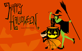 halloween themes wallpaper bat witch pot 3479