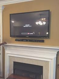 fireplace simple how to install tv over fireplace home design