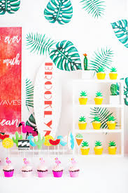 modern tropical baby shower baby shower ideas 100 layer cakelet