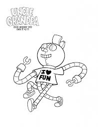 free printable tiny miracle uncle grandpa coloring page grandpa