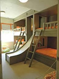 Add An Element Of Fun With Indoor Slides Bunk Bed Bedrooms And Room - Half bunk bed