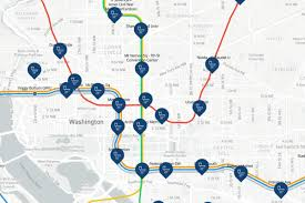 Dc Metro Blue Line Map by Every D C Metro Station U0027s Closest Public Bathroom Mapped Curbed Dc
