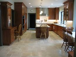 traditional kitchen style with wooden cabinets and