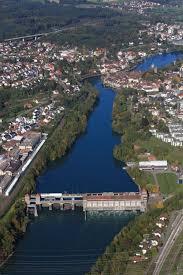 Baden Im Rhein Aus Der Vogelperspektive Wasserkraftwerk Am Rhein In Laufenburg