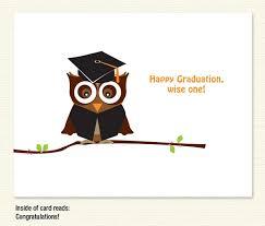 graduation owl graduate owl card graduation card sky of blue cards