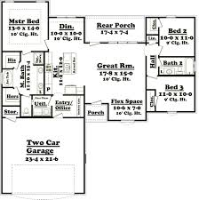 ranch style house plan 3 beds 2 00 baths 1924 sq ft 427 6 cool