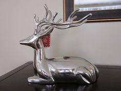 beautiful silver metal reindeer deer great home decor