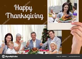thanksgiving messages for family happy family and thanksgiving message u2014 stock photo