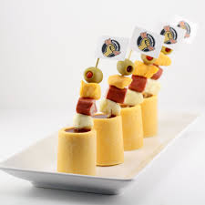 edible glasses mini bloody marys in edible cheddar cheese glasses