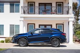 lexus rx 350 f sport 2016 2016 lexus rx 350 f sport side view and balcony motor trend