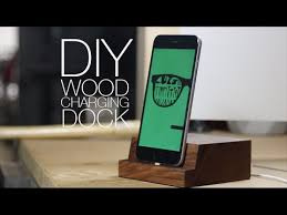 diy wood charging station make wooden iphone charging dock diy project youtube