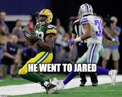 He Went To Jared Meme - image tagged in green bay packers aaron rodgers imgflip