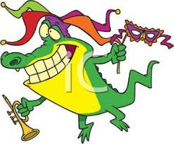 mardi gras alligator free clipart image an alligator wearing a jester s hat and a