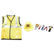 Construction Worker Costume Le Sheng Construction Worker Dress Up Kids Costume Set Lazada Ph