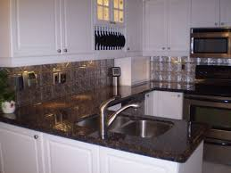 Kitchen Metal Backsplash Ideas by Backsplash Ideas For Blue Pearl Granite Slab Sunday Tan Brown