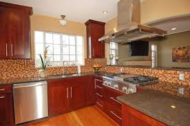 kitchen graceful modern cherry wood kitchen cabinets finished