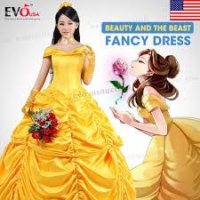 beauty beast princess belle cosplay costume fancy