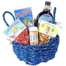 maine gift baskets maine gifts best of maine lobster rope gift basket