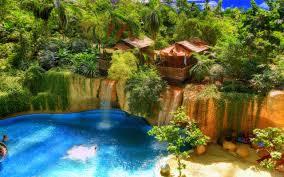 waterfall nature view stunning creative summer waterfall