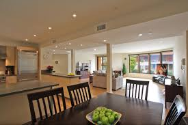open kitchen and dining room home design