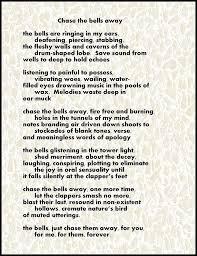 chase the bells away poem digital art by michael hurwitz