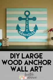 Wooden Anchor Wall Decor Impressive Pottery Barn Wooden Anchor Wall Art Nautical Wall Decor