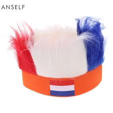Country Flags For Sale Wholesale Anself 16 Country Flag Football Soccer Fans Wig Head