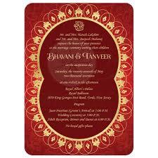 indian wedding invitations nj far east wedding invitation rich ornate faux gold