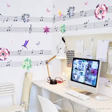 butterfly flying birds flower music note wall stickers wall border see larger image
