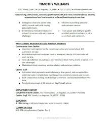 Sample Resume Objectives For Bookkeeper by Resume Samples For Cashier College Administration Cover Letter