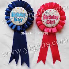 birthday girl pin 1pc lot 7 2cm 2 8 inch 2 color happy birthday girl boy brooch