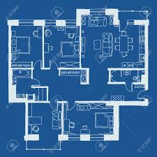 vector illustration of apartments floor plan royalty free cliparts