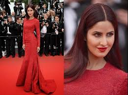 katrina kaif cannes 2015 review 3 dresses makeup red hair