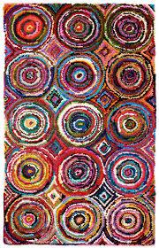 anji mountain colorful amb1001 tie dye circle rug natural fiber