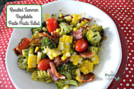 take out tuesday summer vegetable pasta salad painted apron