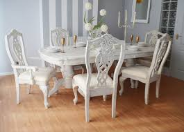 Dining Table And Six Chairs Unique Elegant Luxury French Shabby Chic Antique Dining Table