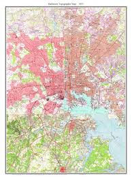 Md Map Old Topographical Maps Of Baltimore Md