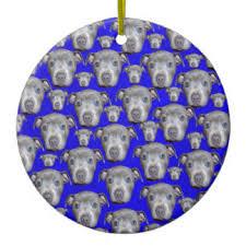 blue staffy ornaments keepsake ornaments zazzle