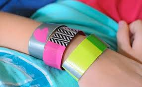 Hand Crafts For Kids To Make - duct tape bracelets for kids to make things to make and do