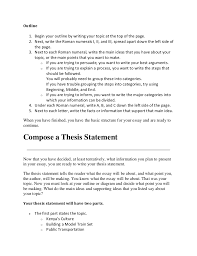 what is the thesis statement essay writing topics for high students sample high