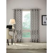 home decorators collection semi opaque black lattice luxe flocked