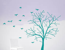 tree and birds wall sticker set contemporary wall stickers